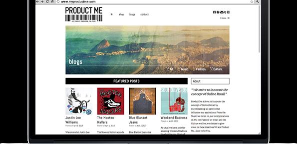 Portfolio - ProductMe v2 site