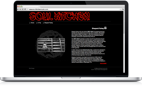 Soul Kitchen Music - Website