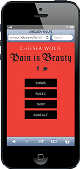 Chelsea Wolfe - Mobile Interactive Design - Parallax Scrolling