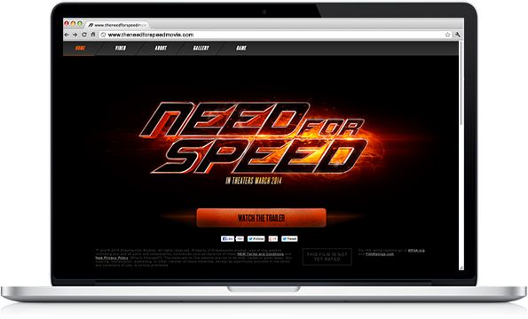 Portfolio - Need for Speed - Web Development