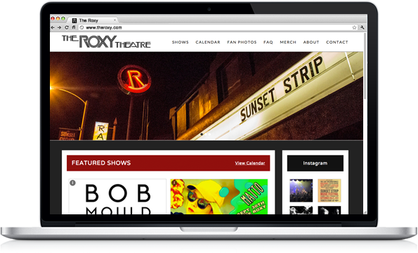 Portfolio - The Roxy Theatre - Music Venue