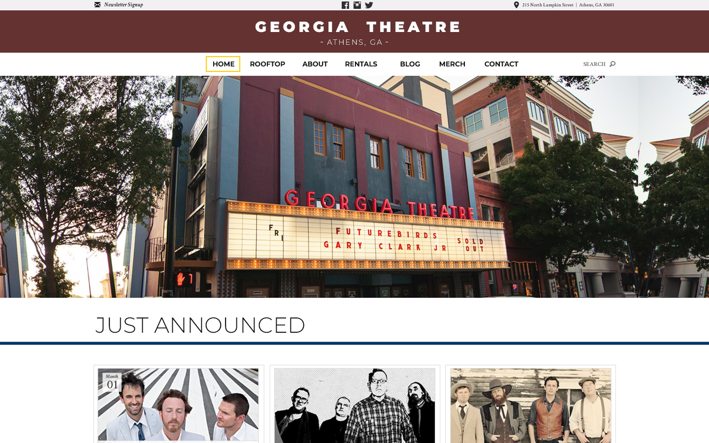 Jeremy Schuler - Web Design - Georgia Theater - 2015