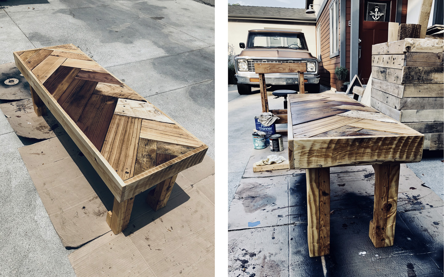 Jeremy Schuler - Woodworking - Chevron Coffee Table