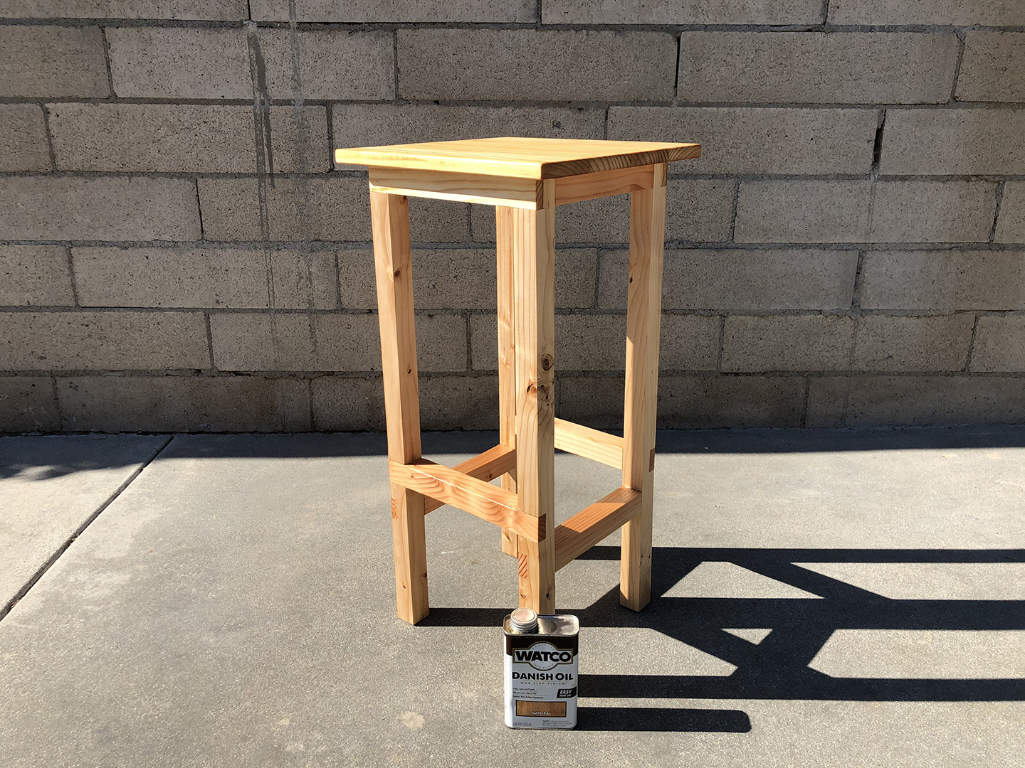 Schuler - Woodworking - DIY Shop Stool finished with Danish Oil