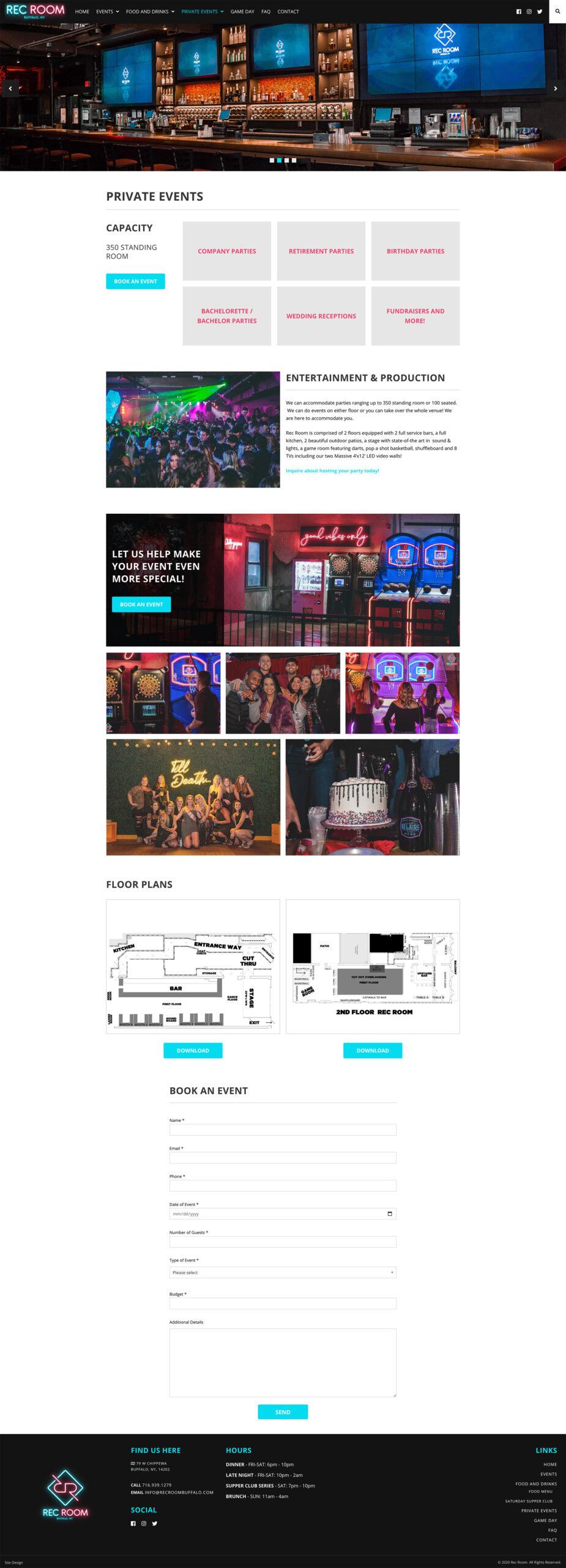 Schuler - Portfolio - Rec Room - Private Events