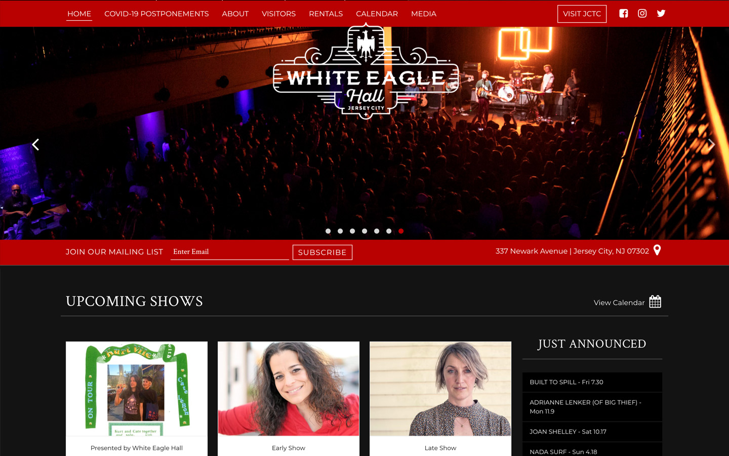 Jeremy Schuler - Web Design - White Eagle Hall - 2017