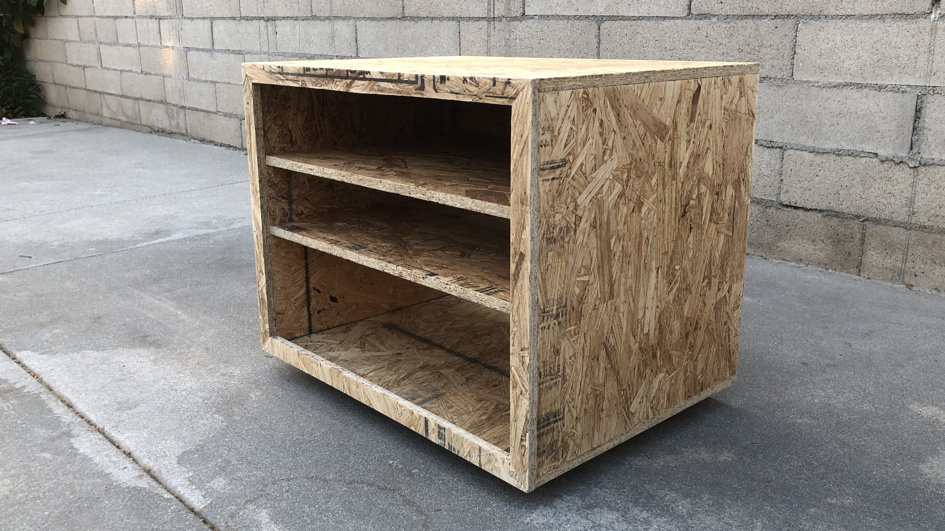 Jeremy Schuler - Woodworking - OSB Night Stand